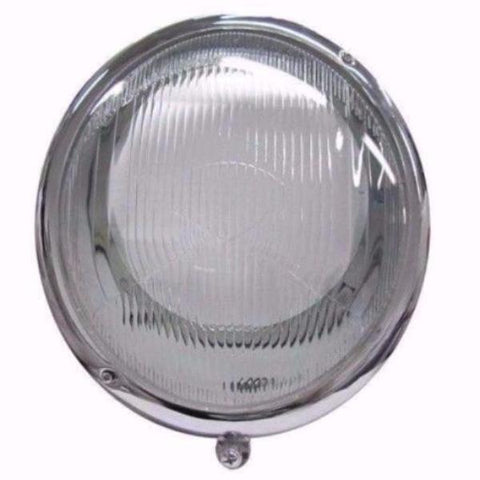 Complete Headlight Assembly - Fluted Euro Glass Lens