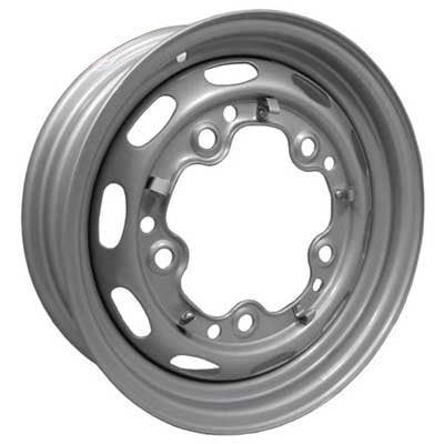 Wide-5 (5x205mm) 5-Bolt Silver Steel Wheel 15x5.5
