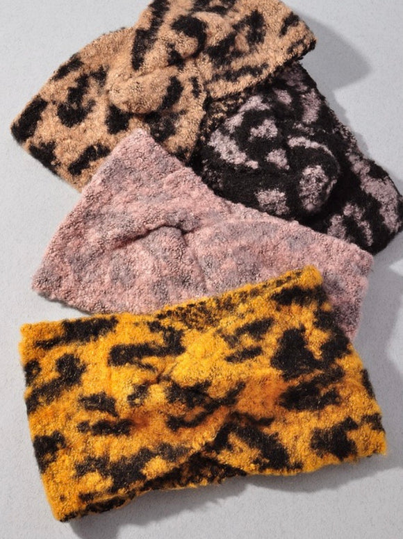 Animal Print Winter Headband