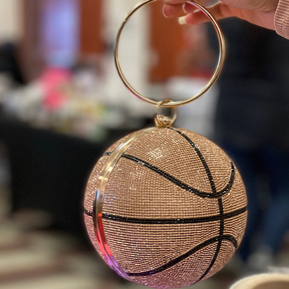 Rose Gold Basketball Purse