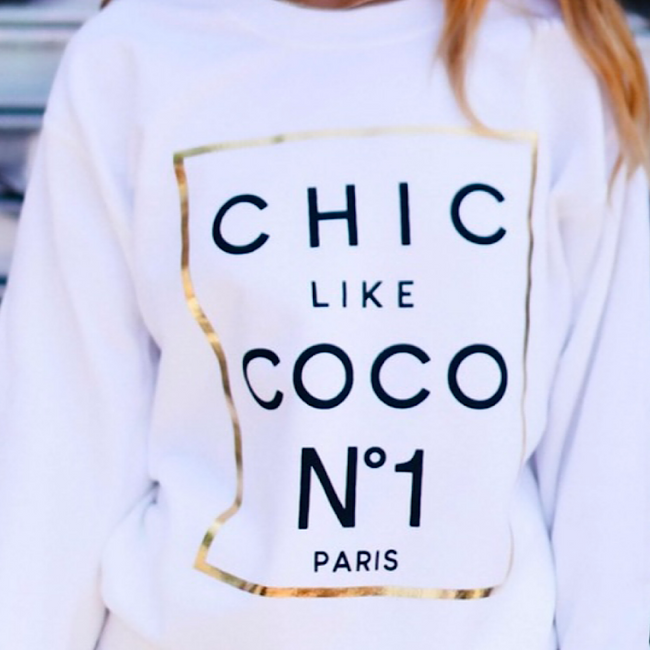 Chic Sweatshirt - Boutique For Her