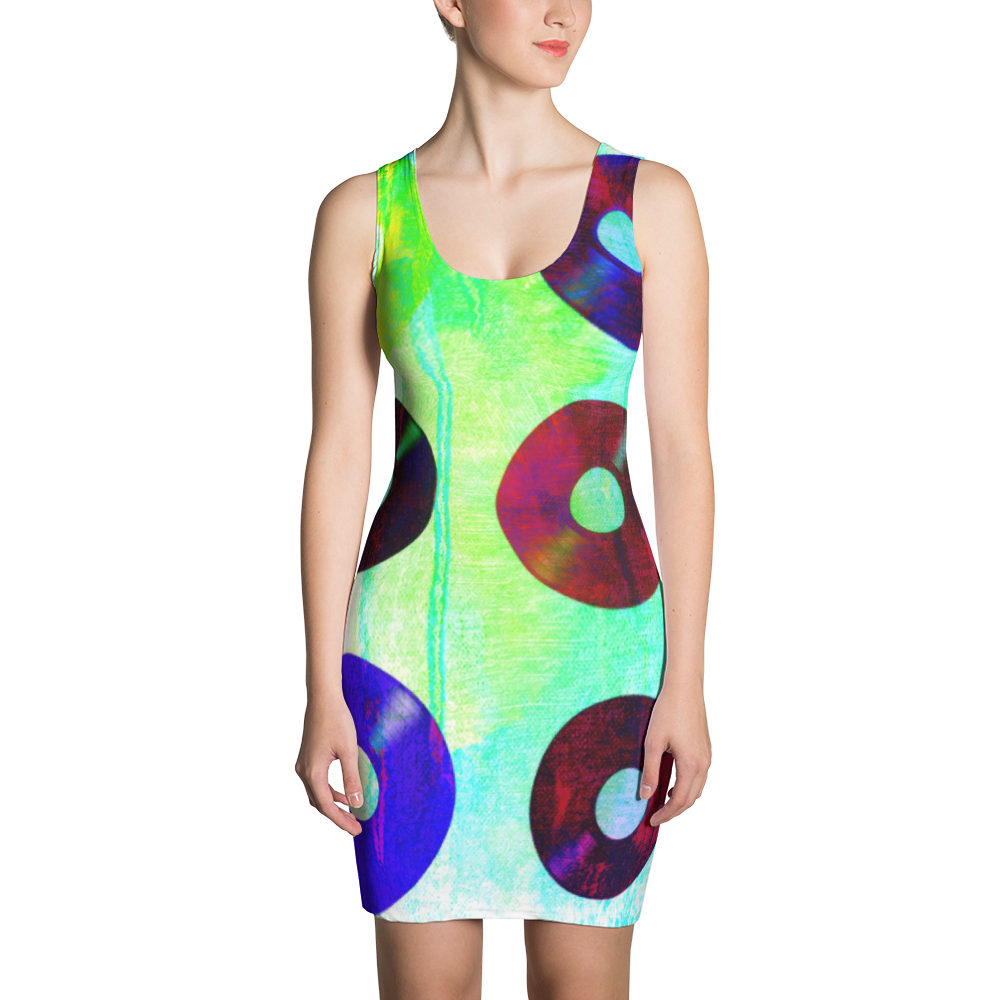 Record Splash Bodycon Dress