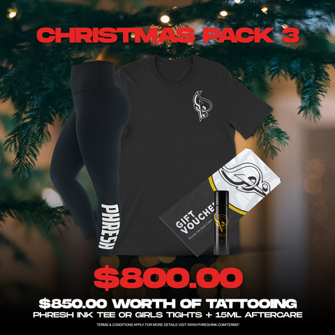 Christmas Pack 3 | Tattoo, Tee, 15ml Aftercare