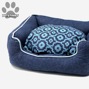 Comfy Denim Dog Bed