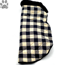 Load image into Gallery viewer, Checkered Furcoat - Black