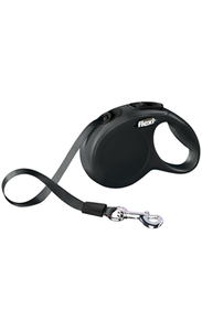 Flexi Retractable Leash - Black Classic Tape
