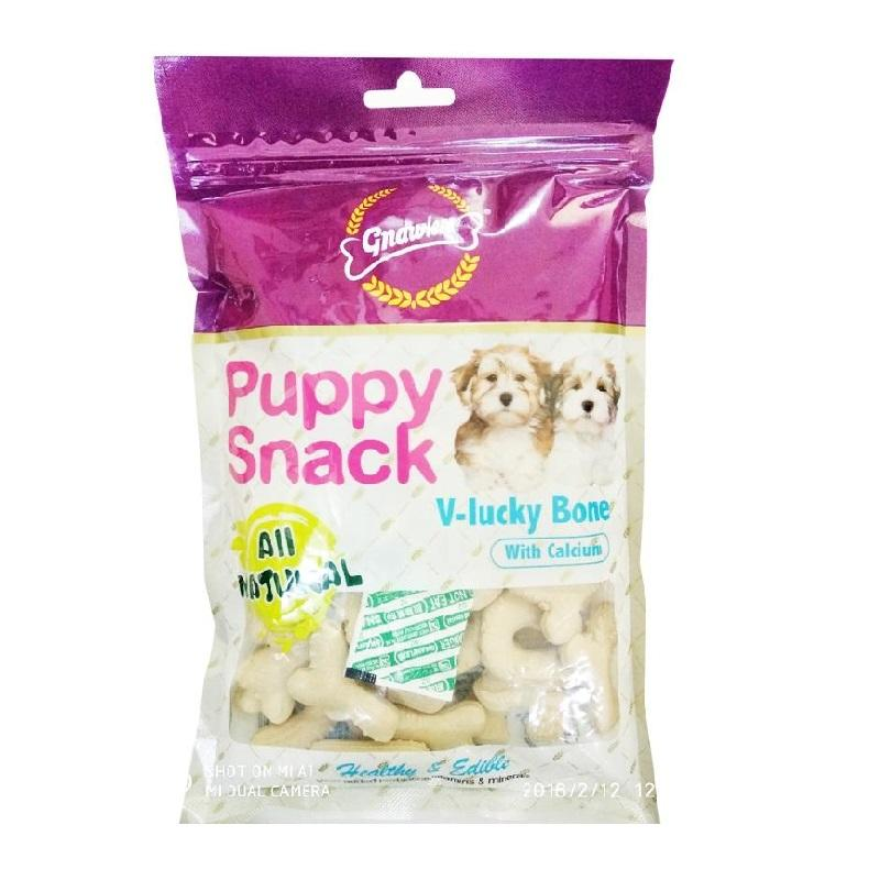 Gnawlers Puppy Snack - V-Lucky Bone with Calcium
