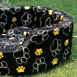 Paw Print Round Bed