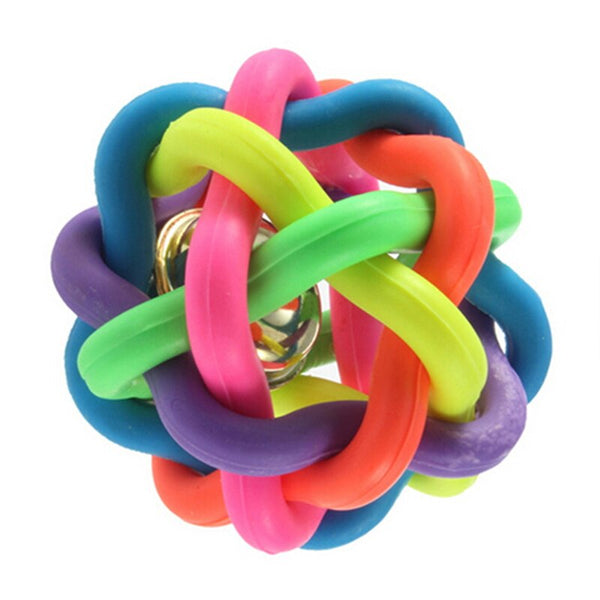 Rubber Toy - Colorful with bell