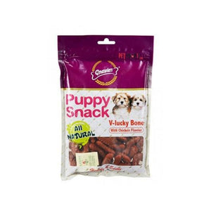 Gnawlers Puppy Snack - V-Lucky Bone with Chicken