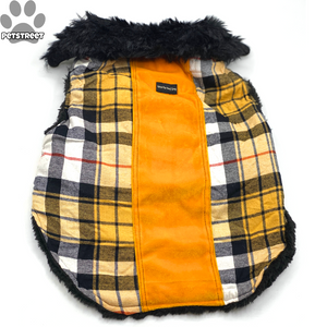 Yellow Checkered Furcoat