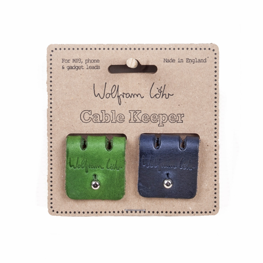 2 pack cable keepers - dark blue/green