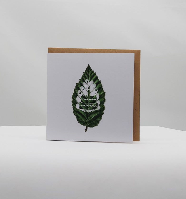 Leaf moments birthday cake card