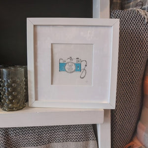 Be the reason framed hand painted print
