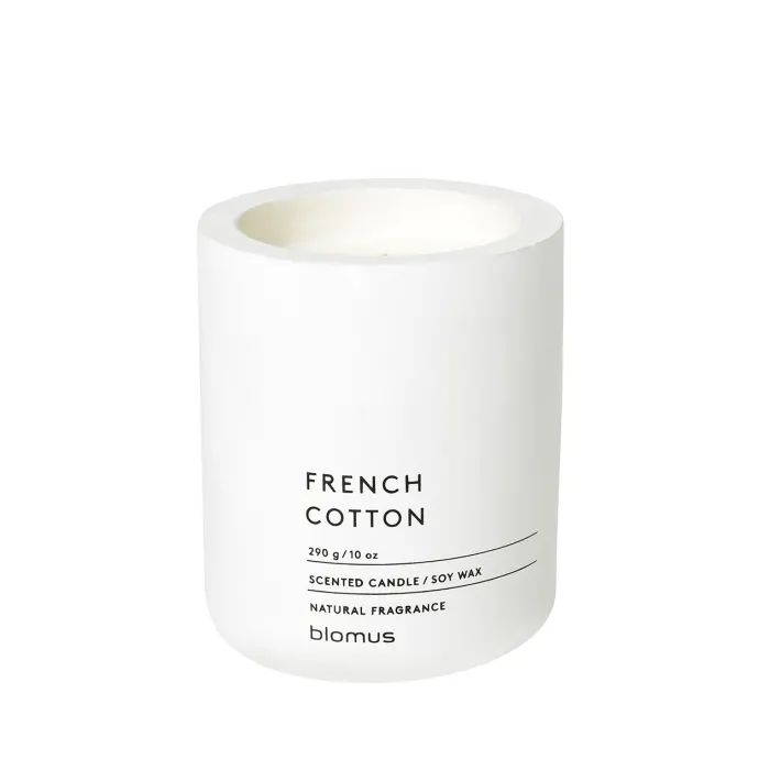 Scented candle - french cotton - large