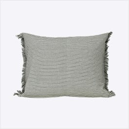 Abby stripe cushion - olive