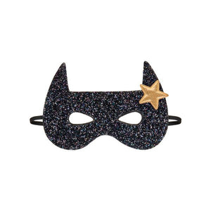 Bat superhero mask - black