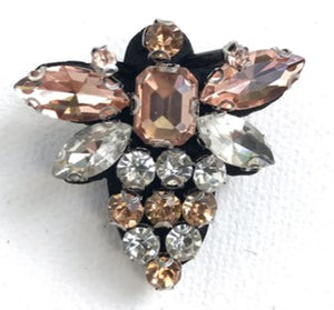 Queen bee pin brooch - champagne