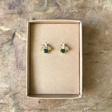 Load image into Gallery viewer, Nouveau bejewelled bee earrings