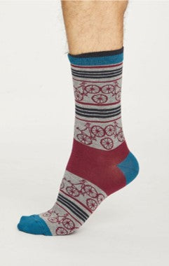 Bicycle socks - mid grey marle