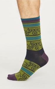 Bicycle socks - olive