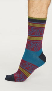 Bicycle socks - bilberry red
