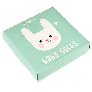 Bonnie the bunny design baby socks (4 pairs)