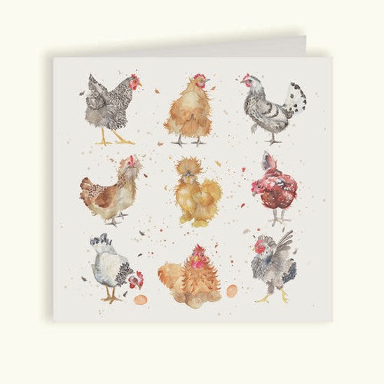 Hens greetings card