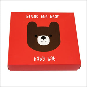 Bruno the bear baby hat