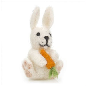 Bunny with carrot hanging felt dec