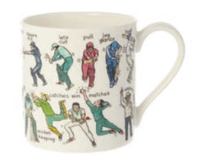 The art of cricket mug