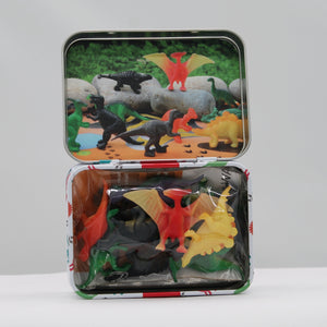 Dinky dinos in a tin