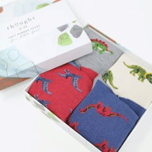 Load image into Gallery viewer, Extinct 4 pack gift box socks - 4-6 yrs