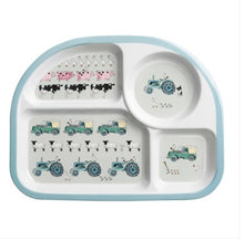 Load image into Gallery viewer, Kids melamine cutlery set - on the farm