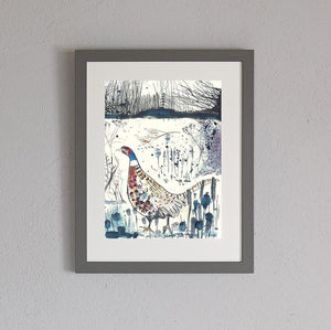 Game birds framed print