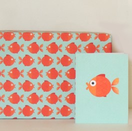 Goldfish wrapping paper
