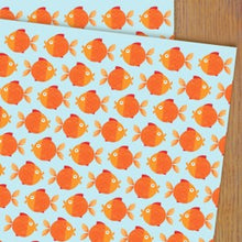 Load image into Gallery viewer, Goldfish wrapping paper
