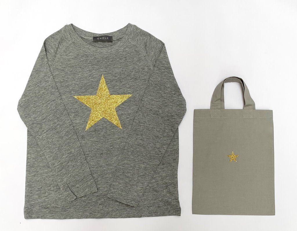 Christmas t-shirt - gold star