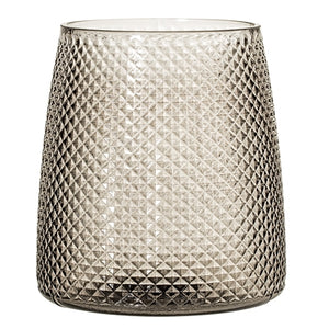 Glass votive - grey