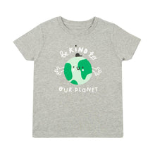 Load image into Gallery viewer, Kids earth t-shirt - grey