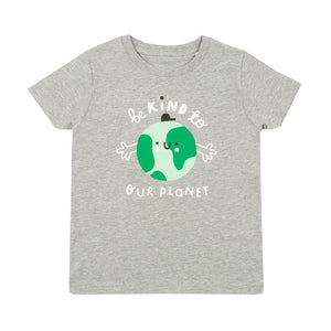 Kids earth t-shirt - grey