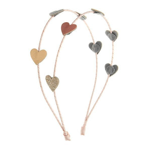 Love heart double Alice band