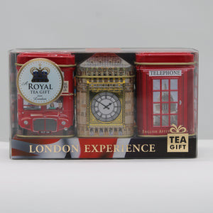London experience 3 x tea caddies (loose tea)