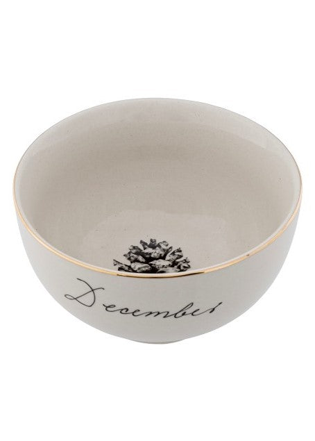 Stoneware Maria bowl - white - December