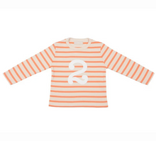 Load image into Gallery viewer, No 2 T-shirt - peaches & cream breton