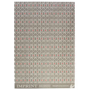 Patterned paper persephone - grey/crimson