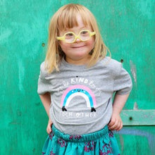 Load image into Gallery viewer, Kids rainbow t-shirt - grey