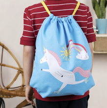 Load image into Gallery viewer, Magical unicorn drawstring bag