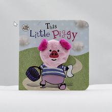 Load image into Gallery viewer, This little piggy finger puppet book