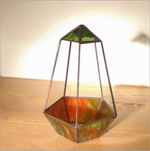Load image into Gallery viewer, The Thomas - handmade stained glass terrarium